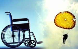 инвалид с парашютом